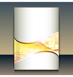 Flyer or brochure cover design vector image