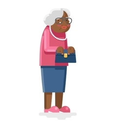 Grandmother Old African Adult Flat Design vector image