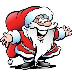 Hand-drawn of an Santa Claus vector image