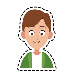 happy kid or child icon image vector image vector image