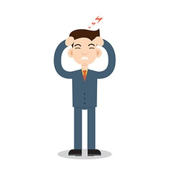 Headache attack Head pain vector image