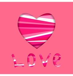 heart symbol cut in paper vector image vector image
