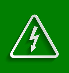 High voltage danger sign paper whitish vector