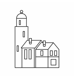 Houses icon outline style vector