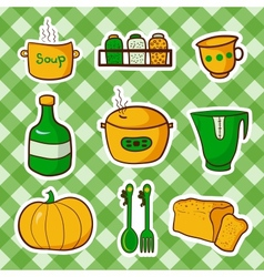 kitchen food vector image