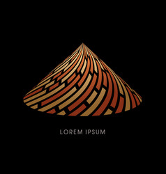 Pyramid abstract construction vector