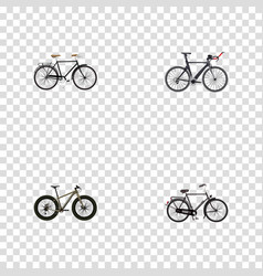 Realistic competition bicycle training vehicle vector