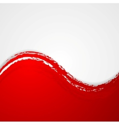 Red grunge waves background vector