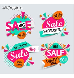 Sale - set of bright modern labels vector image vector image