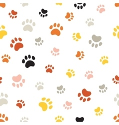 seamless pattern withcat footprints vector image