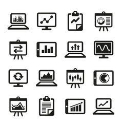 Simple Diagram and Graphs Icons Set vector image