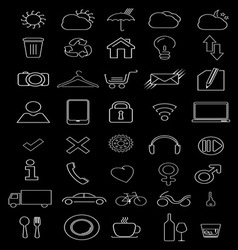 thin icons1 resize vector image vector image