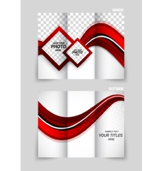 Tri-fold brochure abstract design vector image