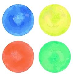 Watercolor circles set vector image vector image
