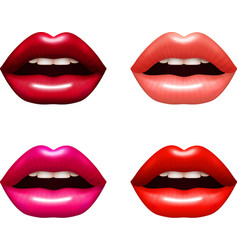 Woman Lips Set vector image