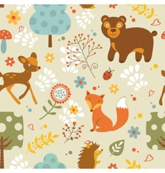 Woodland pattern vector
