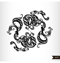 Zodiac signs black and white - pisces vector
