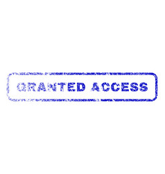 Granted access rubber stamp vector