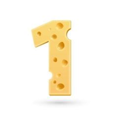 One cheese number vector