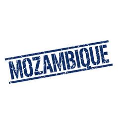 Mozambique blue square stamp vector