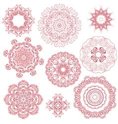 set circle 1color 380 vector image