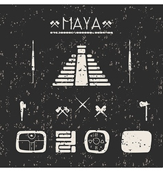 Design elements mystical signs and symbols maya vector