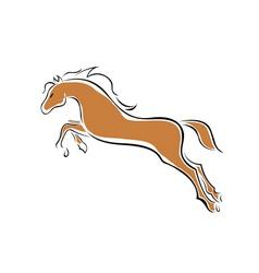 vector horse vector image