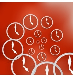 Clock icon background vector