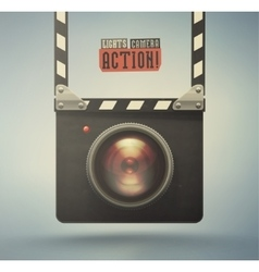 Lights Camera Action vector image