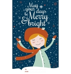 Merry christmas and new year card in vector