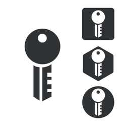 Key icon set monochrome vector