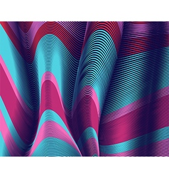 Moving colorful lines of abstract background vector