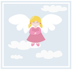 Happy angel vector