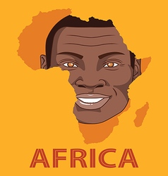 The face smile of africa vector