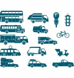 All types of city transport vector