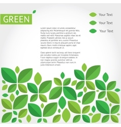 background about green ecology vector image vector image