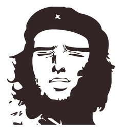 Che Guevara meme eps 10 isolated vector image