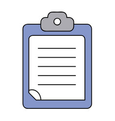 check list business document in the clipboard vector image