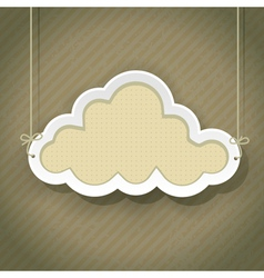 cloud retro2 01 vector image vector image