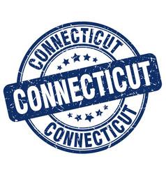 Connecticut blue grunge round vintage rubber stamp vector