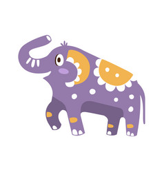 cute cartoon elephant character posing vector image