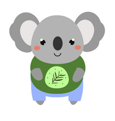 Cute koala cartoon kawaii animal character vector