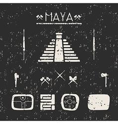 Design elements mystical signs and symbols maya vector