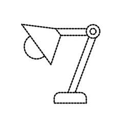 desk lamp office eqipment bulb light vector image