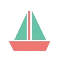 Flat web icon on white background sailing ship vector