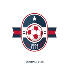football Badge 8 vector image