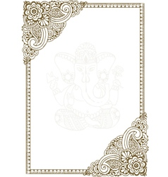 Frame with Indian patterns vector image vector image
