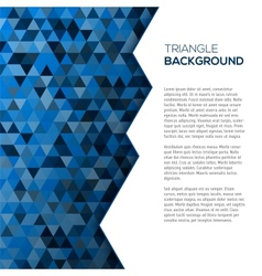 Geometric blue background with tirangles vector image vector image