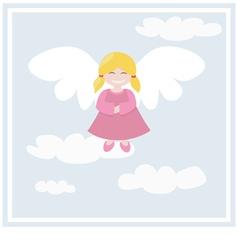 Happy angel vector
