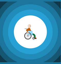 isolated disabled person flat icon handicapped vector image vector image